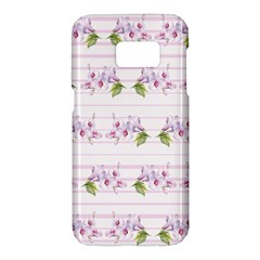 Floral Pattern Samsung Galaxy S7 Hardshell Case  by SuperPatterns