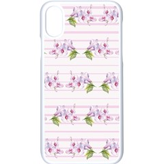 Floral Pattern Apple Iphone X Seamless Case (white)