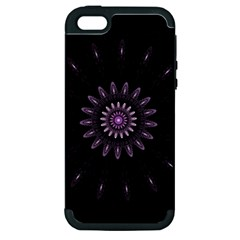 Fractal Mandala Delicate Pattern Apple Iphone 5 Hardshell Case (pc+silicone) by Celenk