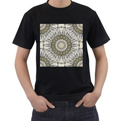 Mandala Sand Color Seamless Tile Men s T-shirt (black) by Celenk