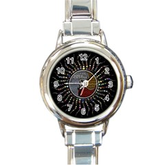 Whole Complete Human Qualities Round Italian Charm Watch by Celenk