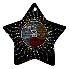 Whole Complete Human Qualities Ornament (star) by Celenk