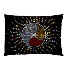 Whole Complete Human Qualities Pillow Case by Celenk