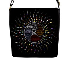 Whole Complete Human Qualities Flap Messenger Bag (l)  by Celenk