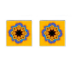Digital Art Fractal Artwork Flower Cufflinks (square)