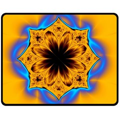 Digital Art Fractal Artwork Flower Fleece Blanket (medium)  by Celenk