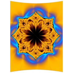 Digital Art Fractal Artwork Flower Back Support Cushion by Celenk