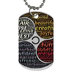 Person Character Characteristics Dog Tag (one Side)