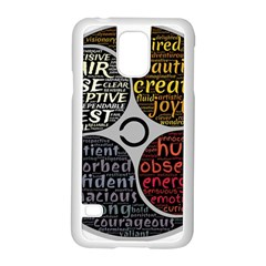 Person Character Characteristics Samsung Galaxy S5 Case (white) by Celenk