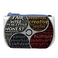Person Character Characteristics Large Coin Purse by Celenk