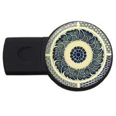 Background Vintage Japanese Usb Flash Drive Round (4 Gb) by Celenk