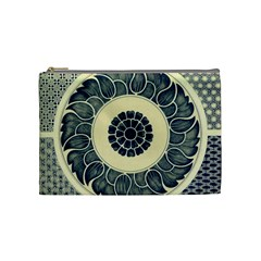 Background Vintage Japanese Cosmetic Bag (medium)  by Celenk