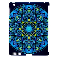 Mandala Blue Abstract Circle Apple Ipad 3/4 Hardshell Case (compatible With Smart Cover) by Celenk