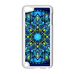Mandala Blue Abstract Circle Apple Ipod Touch 5 Case (white) by Celenk