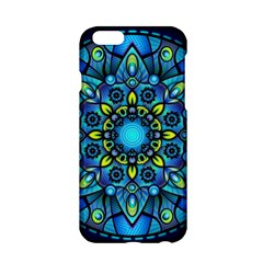 Mandala Blue Abstract Circle Apple Iphone 6/6s Hardshell Case by Celenk