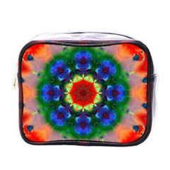 Fractal Digital Mandala Floral Mini Toiletries Bags