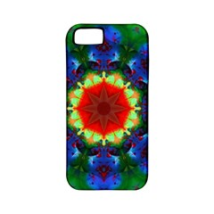 Fractal Digital Mandala Floral Apple Iphone 5 Classic Hardshell Case (pc+silicone) by Celenk