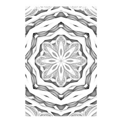 Mandala Pattern Floral Shower Curtain 48  X 72  (small)  by Celenk