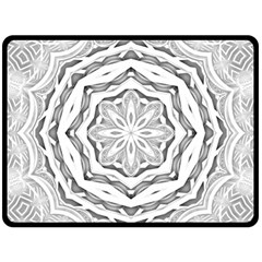 Mandala Pattern Floral Double Sided Fleece Blanket (large)  by Celenk