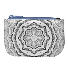Mandala Pattern Floral Large Coin Purse by Celenk