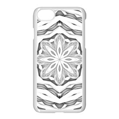 Mandala Pattern Floral Apple Iphone 8 Seamless Case (white) by Celenk