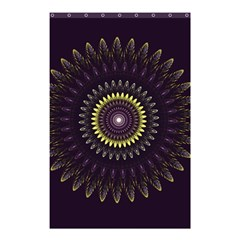 Fractal Purple Mandala Violet Shower Curtain 48  X 72  (small)  by Celenk