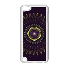 Fractal Purple Mandala Violet Apple Ipod Touch 5 Case (white) by Celenk