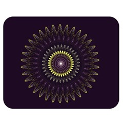 Fractal Purple Mandala Violet Double Sided Flano Blanket (medium)  by Celenk