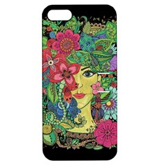 Mandala Figure Nature Girl Apple Iphone 5 Hardshell Case With Stand