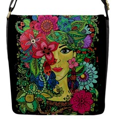 Mandala Figure Nature Girl Flap Messenger Bag (s) by Celenk