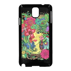 Mandala Figure Nature Girl Samsung Galaxy Note 3 Neo Hardshell Case (black) by Celenk
