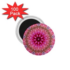 Flower Mandala Art Pink Abstract 1 75  Magnets (100 Pack)  by Celenk