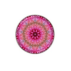 Flower Mandala Art Pink Abstract Hat Clip Ball Marker (10 Pack) by Celenk