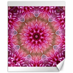 Flower Mandala Art Pink Abstract Canvas 11  X 14   by Celenk