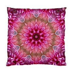 Flower Mandala Art Pink Abstract Standard Cushion Case (two Sides) by Celenk