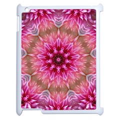 Flower Mandala Art Pink Abstract Apple Ipad 2 Case (white) by Celenk