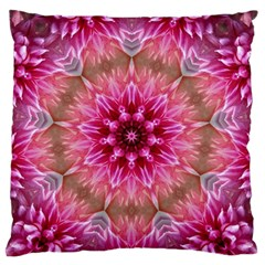 Flower Mandala Art Pink Abstract Standard Flano Cushion Case (one Side)