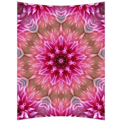 Flower Mandala Art Pink Abstract Back Support Cushion by Celenk
