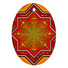 Mandala Zen Meditation Spiritual Ornament (oval) by Celenk