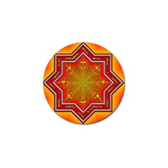 Mandala Zen Meditation Spiritual Golf Ball Marker (4 Pack) by Celenk