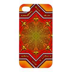 Mandala Zen Meditation Spiritual Apple Iphone 4/4s Premium Hardshell Case by Celenk