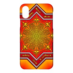 Mandala Zen Meditation Spiritual Apple Iphone X Hardshell Case by Celenk