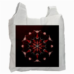 Mandala Red Bright Kaleidoscope Recycle Bag (one Side) by Celenk