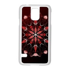 Mandala Red Bright Kaleidoscope Samsung Galaxy S5 Case (white) by Celenk