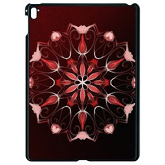 Mandala Red Bright Kaleidoscope Apple Ipad Pro 9 7   Black Seamless Case by Celenk