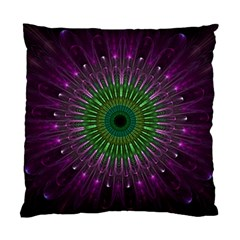Purple Mandala Fractal Glass Standard Cushion Case (two Sides)