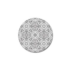Mandala Pattern Line Art Golf Ball Marker (4 Pack) by Celenk