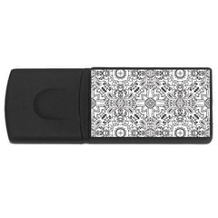Mandala Pattern Line Art Rectangular Usb Flash Drive by Celenk