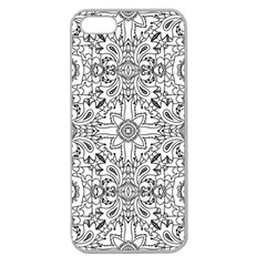 Mandala Pattern Line Art Apple Seamless Iphone 5 Case (clear) by Celenk