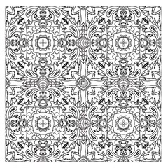 Mandala Pattern Line Art Large Satin Scarf (square) by Celenk